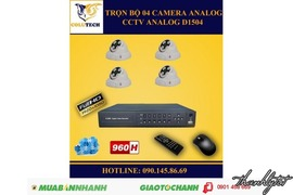 Trọn bộ 04 Camera Dome Analog FULL HD